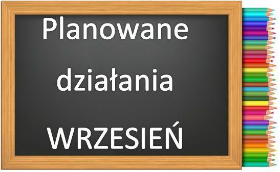 Planowane Działania Wrzesień Przedszkole Charbrowo